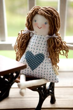 Child Friendly Rag Doll Waldorf Cloth Doll with by thebuslbarn, $65.00
