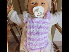 Bavaglino ai ferri per neonato. PRINCIPIANTI. (Set bebè 3/3) - YouTube