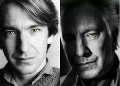 Alan Rickman - colored eyes by Kukatimota