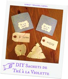 Mon 1er Swap : le Barjo Nowel de ma swappée #1 (tutos inside) - Wow ... Mum !! Diy Tea Bags, Place Cards, Place Card Holders, Mom Of Twins, Coffee Filters, Christmas Projects