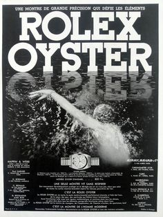 ROLEX Oyster poster vintage advertising waterproof Rolex by OldMag