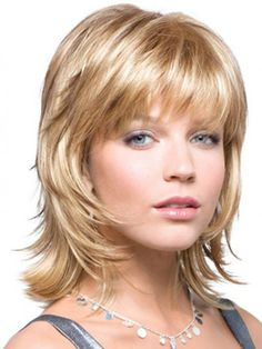 shaggy hairstyles for thick hair and long faces - Google Search