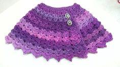 #Crochet Cute Baby Cape Shawl Poncho #TUTORIAL Closed Caption