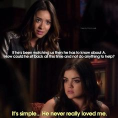 "S4 Ep21 ""She's Come Undone"" - Aria and Emily"