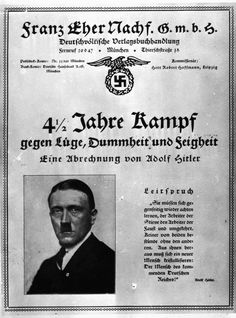 "Advertising poster for Adolf Hitler's ""Mein Kampf"", 1925."