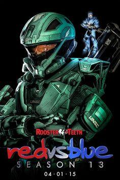 Red vs Blue Season 13 digital character poster - Carolina