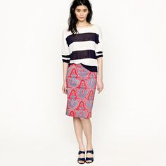 Petite No. 2 pencil skirt in raj paisley