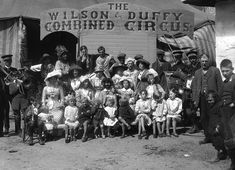 The members of the Wilson & Duffy Combined Circus. Strabane, Northern Ireland. c.1911. Photo by H.F. Cooper