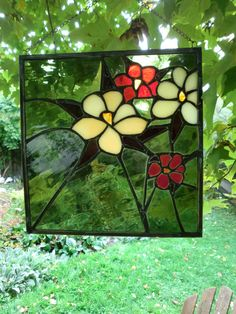 OLIVE GREEN Stained Glass