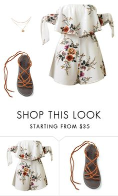 """""""Floral set"""" by plaka-sandals ❤ liked on Polyvore featuring WithChic"""