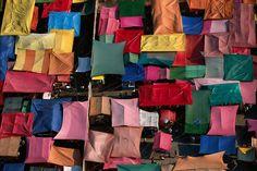 Yann Arthus-Bertrand : Market near the neighborhood of Xochimilco, Mexico City, Mexico