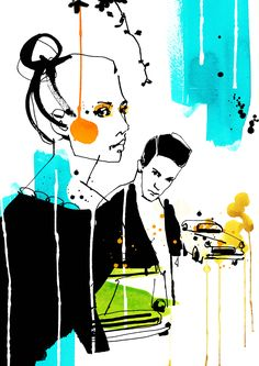 <p>Swedish illustrator Cecilia Lundgren has developed her very own style after all the time she lived in Spain, Greece and Italy. Now back in Sweden, she works as freelancer for a wide range of intern