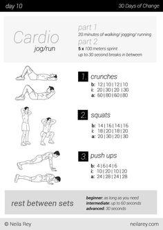 No equipment 30 day workout program - Imgur