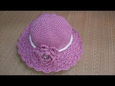 27 Ideas for crochet summer hat pattern sombreros Crochet Baby Bonnet, Crochet Sheep, Crochet Beret, Crochet Gloves, Knitted Hat, Free Crochet, Crochet Hat Tutorial, Sombrero A Crochet, Crochet Summer Hats