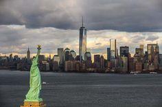 Statue de la Liberté sur Liberty Island et l'île de Manhattan, New York, Etats-unis d'Amérique. © Yann Arthus-Bertrand