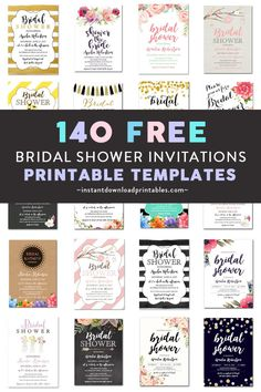 Free Bridal Invitations Over 140 Printable Bridal Shower PDF Invitation Templates How to Build a Sim Rustic Bridal Shower Invitations, Bridal Shower Signs, Bridal Shower Rustic, Bridal Showers, Free Baby Shower Invitations, Wedding Invitations, Invites, Wedding Favors, Wedding Cakes