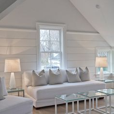 Finished Attic paneling ceiling