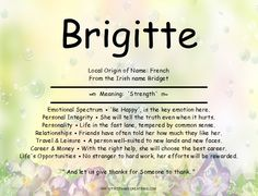Brigitte Name Meaning