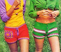 Vintage 1970s Hip Hugger Hot Pants Short Shorts by 2ndlookvintage, $4.50