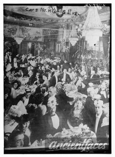 Happy New Year's Eve everyone! Check out this photo of a New Year's Eve celebration taken circa 1910 - 1915. Original: http://www.ancientfaces.com/photo/cafe-new-years-eve/781128