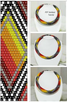 bead crochet rope pattern, necklace tutorial, bead tutorial pdf. pdf pattern, necklace pattern