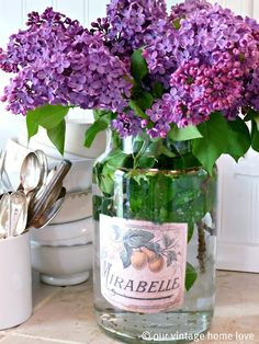 """For a vintage jar like this, google images of old labels, print them off and glue them to any old jar.  Voila, instant vintage jar!"""