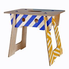 Michael Marriott Screen Printed Ply Stool for Paul Smith