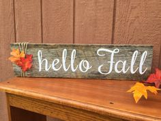 easy fall wood crafts 35 Awesome Easy Fall Wood Crafts 66 Customizable Hello Fall Wood Sign by thehopsonshop On Etsy 3 The post easy fall wood crafts 35 appeared first on Wood Ideas. Fall Wood Crafts, Pallet Crafts, Wooden Crafts, Painted Wood Crafts, Wooden Diy, Thanksgiving Diy, Fall Wood Signs, Wooden Signs, Fall Pallet Signs