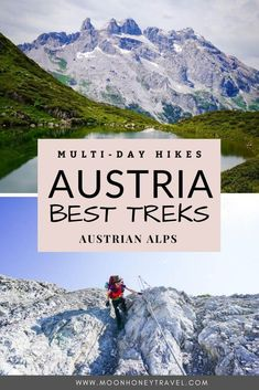 The best treks and long distance hiking trails in Austria. Find out which Austrian trek is right for you: Eagle Walk (Adlerweg), Berlin High Trail, Venediger High Trail, Rätikon High Trail, Montafon Hut to Hut Circuit, etc...   #austria #travelaustria #austrianalps #alps #hiking #mountainhiking #trekking #huttohuthiking #longdistancehiking #europehikes #europetreks #hikingeurope #austriahiking Amazing Destinations, Travel Destinations, Hiking Europe, Austria Travel, Travel Ideas, Travel Inspiration, Travel Tips, Day Hike, Outdoor Adventures