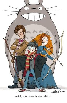 Totoro, ?, Harry, Dr Who