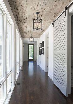 gray barn door and beautiful ceiling