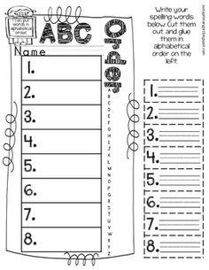 ABC Order Freebie - Any words