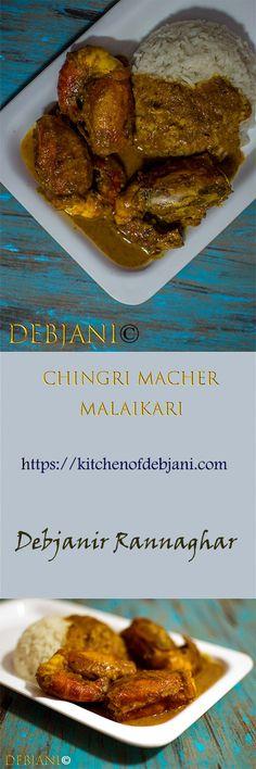 Indian Shrimp Recipes, Indian Food Recipes, Bangladeshi Food, Bengali Food, My Cookbook, Indian Dishes, Spicy, Breakfast, Indian Recipes