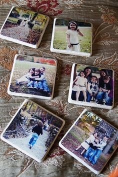 Make your own Photo Coasters. Super fun and looks like a doable DIY.