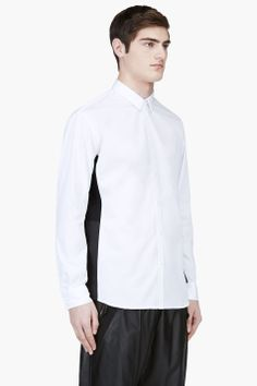 PUBLIC SCHOOL White Contrast Panel Shirt