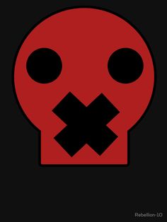 A cartoonic skull with a cross on his mouth. It the meaning of this symbol is various, protest, opression or it just looks cool.