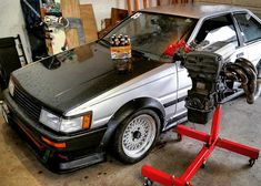 """""""love rainy days but my feet are getting soaked from this leak, corolla problems #toyota #ae86 #hachiroku #levin #4age #20v #jdm #beer #mesh #race #cars…"""""""
