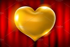 Big golden heart on a black vector by Rommeo79 on @creativemarket