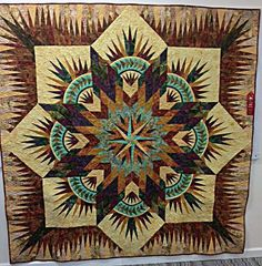 Prairie Star, Quiltworx.com, Made by Jerie Cooper-Meyer.