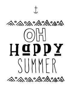 happy summer quote poster print by sinansaydik.