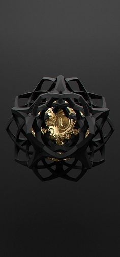 All black but gold on Behance: