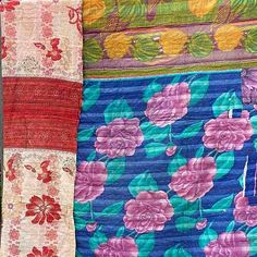 Kantha block printed and hand-stitched from vintage cotton Sari's.We have a series of economy Kantha Quilts on offer at very affordable prices. Yummy Linen Beach Blanket, Picnic Blanket, Kantha Quilt, Vintage Quilts, Cotton Quilts, Vintage Cotton, Hand Stitching, Biodegradable Products, Sheep