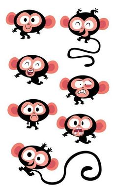 Illustration | Character Design crazy about monkeys!: