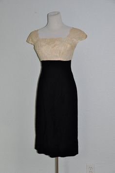 Lace Bodice Vintage Cocktail Dress via Etsy