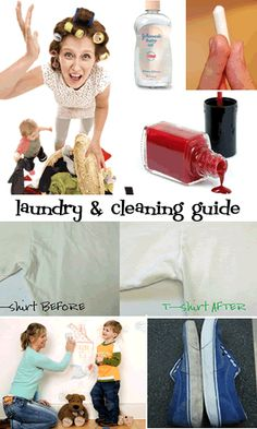 laundry tips, stain guide and cleaning tips for clothing, toys and more! #consignment