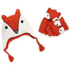 Fox hat and glove set, $22 by Little Maven