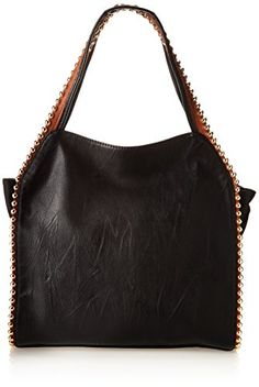 BIG BUDDHA Grayson Top Zip Hobo Shoulder Bag,Black/Cognac,One Size Big Buddha http://www.amazon.com/dp/B00JK7VYXQ/ref=cm_sw_r_pi_dp_jiT3tb11H76EMHF1
