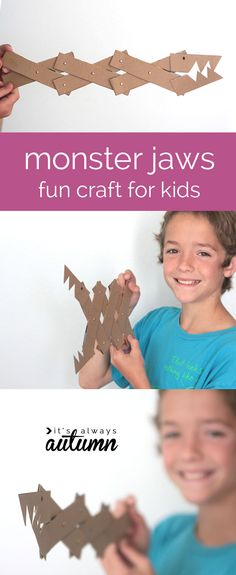 Your kids will thank you for creating these DIY Monster Jaws. Upcycle empty cereal boxes and unlock hours of fun (via @itsalwaysautumn).