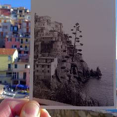 Manarola then and now (black and white to colors)