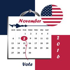 Vector: United State of America President election year 2016